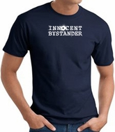 INNOCENT BYSTANDER WHITE Funny Adult T-shirt - Navy