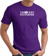 INNOCENT BYSTANDER WHITE Funny Adult T-shirt - Purple