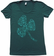 Irish Shamrock Juniors Burnout Shirt