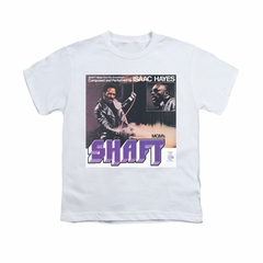 Isaac Hayes Shirt Kids Shaft White T-Shirt