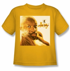Issac Hayes Kids Shirt Concord Music Joy Gold Youth Tee T-Shirt