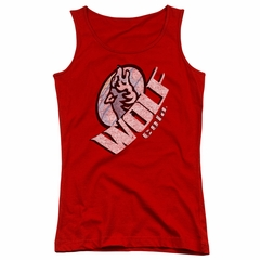 It's Always Sunny In Philadelphia Juniors Tank Top Wolf Cola Red Tanktop
