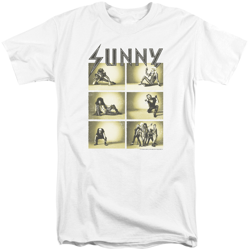 It 39 s always sunny in philadelphia shirt rock photos white for Big and tall rock t shirts