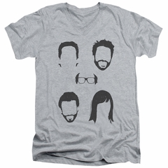 It's Always Sunny In Philadelphia Slim Fit V-Neck Shirt Casted Shadows Athletic Heather T-Shirt