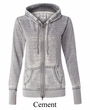 J America Ladies Hoodie Full-Zip Hooded Sweatshirt Zen Fleece Hoody