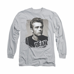 James Dean Shirt Broken Border Long Sleeve Silver Tee T-Shirt