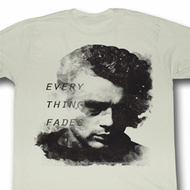 James Dean Shirt Everything Fades Adult Dirty White Tee T-Shirt