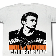 James Dean Shirt Hollywood Adult White Tee T-Shirt
