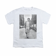 James Dean Shirt Kids Walk The Walk White T-Shirt