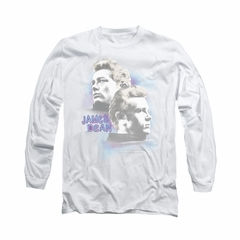 James Dean Shirt Pastel Charmer Long Sleeve Silver Tee T-Shirt