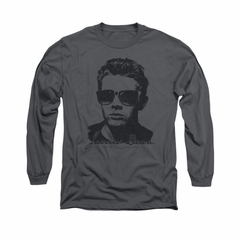 James Dean Shirt Shades Long Sleeve Charcoal Tee T-Shirt