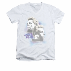 James Dean Shirt Slim Fit V-Neck Pastel Charmer Silver T-Shirt