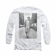 James Dean Shirt Walk The Walk Long Sleeve White Tee T-Shirt