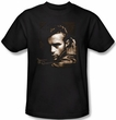 James Dean T-shirt Brown Leather Adult Black Tee Shirt