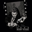 James Dean T-shirt Picture New York Adult Black Tee Shirt