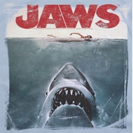 Jaws Block Title Poster Shirts