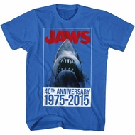 Jaws Shirt 40th Anniversary Royal T-Shirt