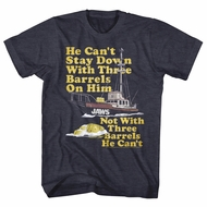 Jaws Shirt Barrels Heather Charcoal T-Shirt