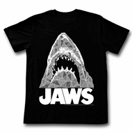 Jaws Shirt Diamond Shark Black T-Shirt