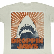 Jaws Shirt Droppin Jaw Adult Dirty White Tee T-Shirt