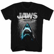 Jaws Shirt Great Blue Shark Black T-Shirt
