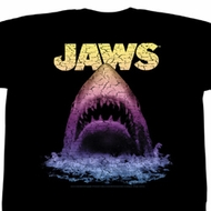 Jaws Shirt Great White Adult Black Tee T-Shirt