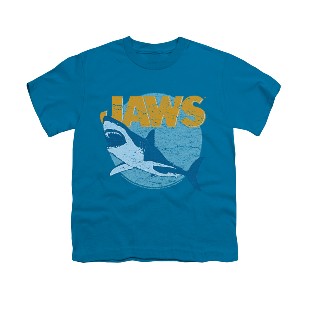 jaws shirt kids day glow turquoise t shirt jaws day glow shirts