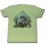 Jaws Shirt Open Jaws Heather Green T-Shirt