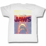 Jaws Shirt Orange Glow White T-Shirt