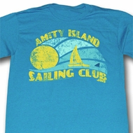 Jaws Shirt Sail Club Adult Dirty Turquoise Tee T-Shirt