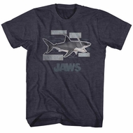 Jaws Shirt Shark Facts Charcoal Heather T-Shirt