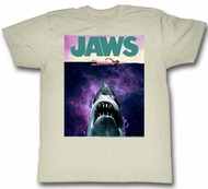 Jaws Shirt Shark Movie Poster Natural T-Shirt