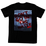 Jaws Shirt Shark Under The Water Black T-Shirt