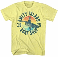 Jaws Shirt Surf Shop 1975 Yellow T-Shirt