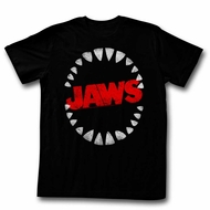 Jaws Shirt Teeth Black T-Shirt