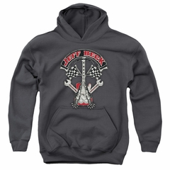 Jeff Beck Kids Hoodie Beckabilly Guitar Charcoal Youth Hoody
