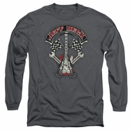 Jeff Beck Long Sleeve Shirt Beckabilly Guitar Charcoal Tee T-Shirt