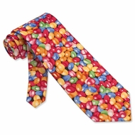 Jellybeans Black Micro Long Tie Necktie Men�s Food Drink Neck Tie