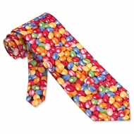 Jellybeans Multicolor Microfiber Tie Necktie Men�s Food Drink Neck Tie