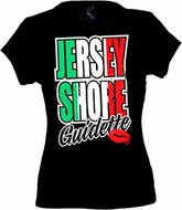 JERSEY SHORE GUIDETTE NJ Funny Ladies Fitted Babydoll T-shirt