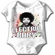Jimi Hendrix Baby Romper New Electric White Infant Creeper