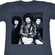 Jimi Hendrix Juniors Shirt Jim Trio Blue Heather Tee T-Shirt