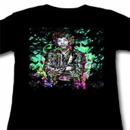 Jimi Hendrix Juniors Shirt Peace Love Jimi Black Tee T-Shirt