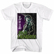 Jimi Hendrix Shirt Bold As Love White T-Shirt