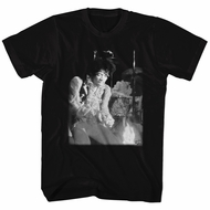 Jimi Hendrix Shirt Burning Guitar Black T-Shirt