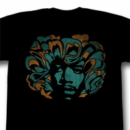 Jimi Hendrix Shirt Colors Adult Black Tee T-Shirt