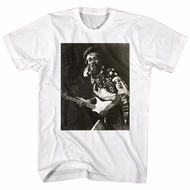 Jimi Hendrix Shirt Guitar White T-Shirt