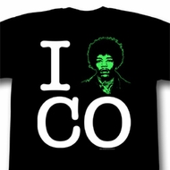 Jimi Hendrix Shirt ICO Adult Black Tee T-Shirt
