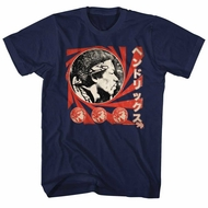 Jimi Hendrix Shirt Japanese Navy T-Shirt