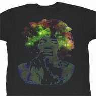 Jimi Hendrix Shirt Magic Adult Black Tee T-Shirt